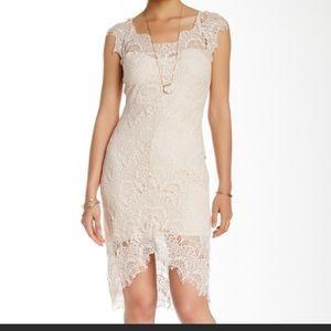 Free people intimately cream laced peekaboo dress